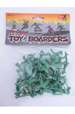 Cubierta de THE ORIGINAL AJ'S TOY BOARDERS. SKATE SERIES 1. BOLSA 24 SKATERS. VERDE 2011. SKATEBOARD MONOPATIN (No Acred