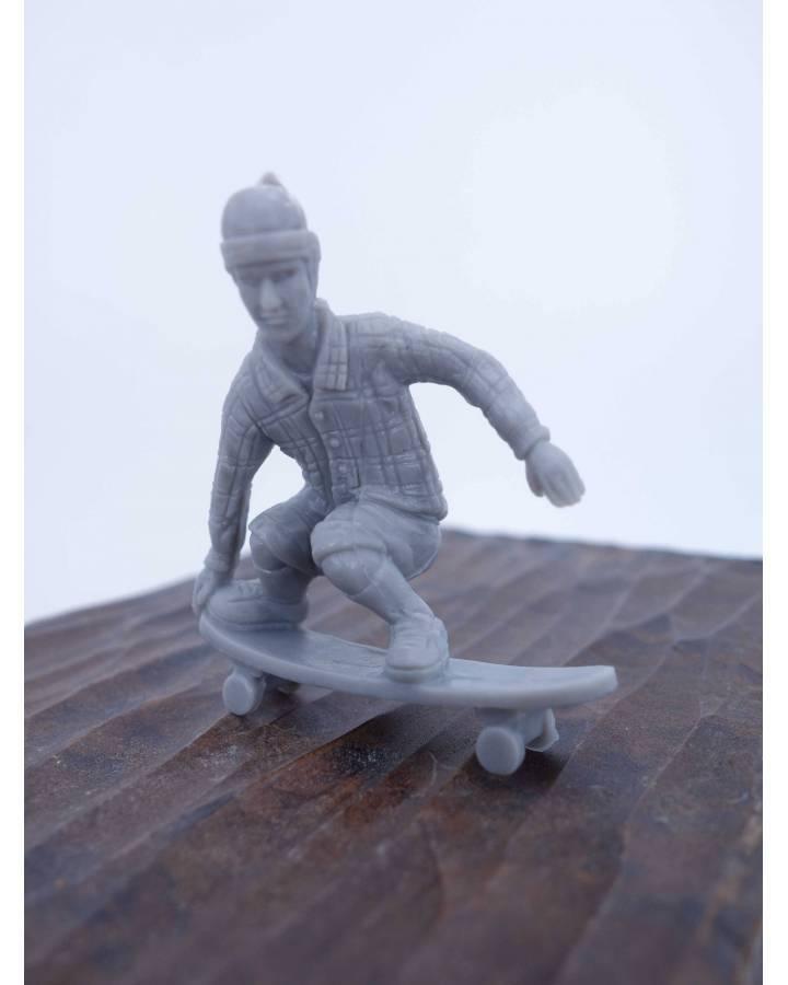 Cubierta de THE ORIGINAL AJ'S TOY BOARDERS. SKATE SERIES 2. 8. TAILGRAB. GRIS 2011. SKATEBOARD MONOPATIN (No Acreditado)