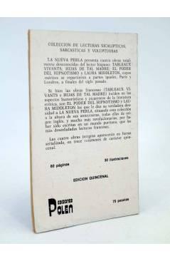 Contracubierta de LA NUEVA PERLA 9. COLECCIÓN DE LECTURAS SICALÍPTICAS SARCÁSTICAS Y VOLUPTUOSAS (Vvaa) Polen 1979