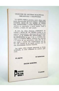 Contracubierta de LA NUEVA PERLA 11. COLECCIÓN DE LECTURAS SICALÍPTICAS SARCÁSTICAS Y VOLUPTUOSAS (Vvaa) Polen 1979