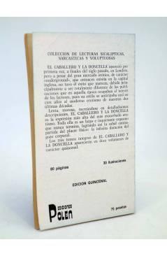 Contracubierta de EL CABALLERO Y LA DONCELLA 5. COLECCIÓN DE LECTURAS SICALÍPTICAS SARCÁSTICAS Y VOLUPTUOSAS (Vvaa) Pole