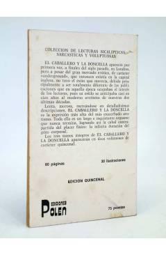 Contracubierta de EL CABALLERO Y LA DONCELLA 6. COLECCIÓN DE LECTURAS SICALÍPTICAS SARCÁSTICAS Y VOLUPTUOSAS (Vvaa) Pole