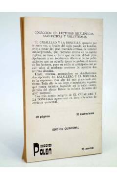 Contracubierta de EL CABALLERO Y LA DONCELLA 12. COLECCIÓN DE LECTURAS SICALÍPTICAS SARCÁSTICAS Y VOLUPTUOSAS (Vvaa) Pol