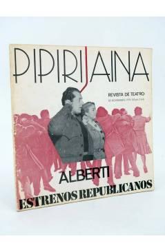 Cubierta de PIPIRIJAINA REVISTA DE TEATRO 2ª ÉPOCA 2. ESTRENOS REPUBLICANOS (Rafael Alberti) Estudio de Teatro 1976