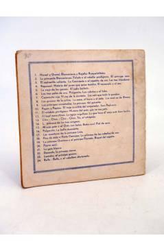 Contracubierta de EL CUENTO ROSA 9. LOS INVASORES DE VILLABELLA (Alicia Rey / Bocquet) Juventud 1930