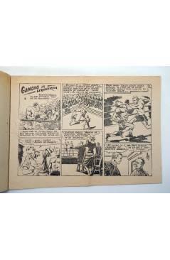 Contracubierta de AVENTURAS DEPORTIVAS. Revista para los jóvenes 19. GANCHO DE IZQUIERDA (No Acreditado) Ricart 1957