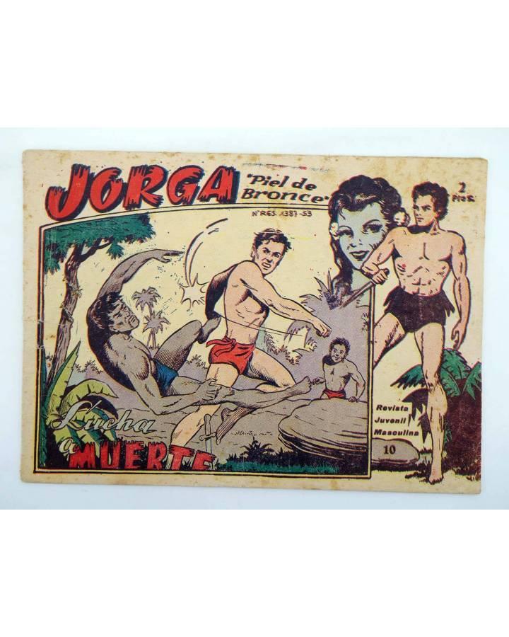 Cubierta de JORGA PIEL DE BRONCE 10. LUCHA A MUERTE (No Acreditado) Ricart 1963