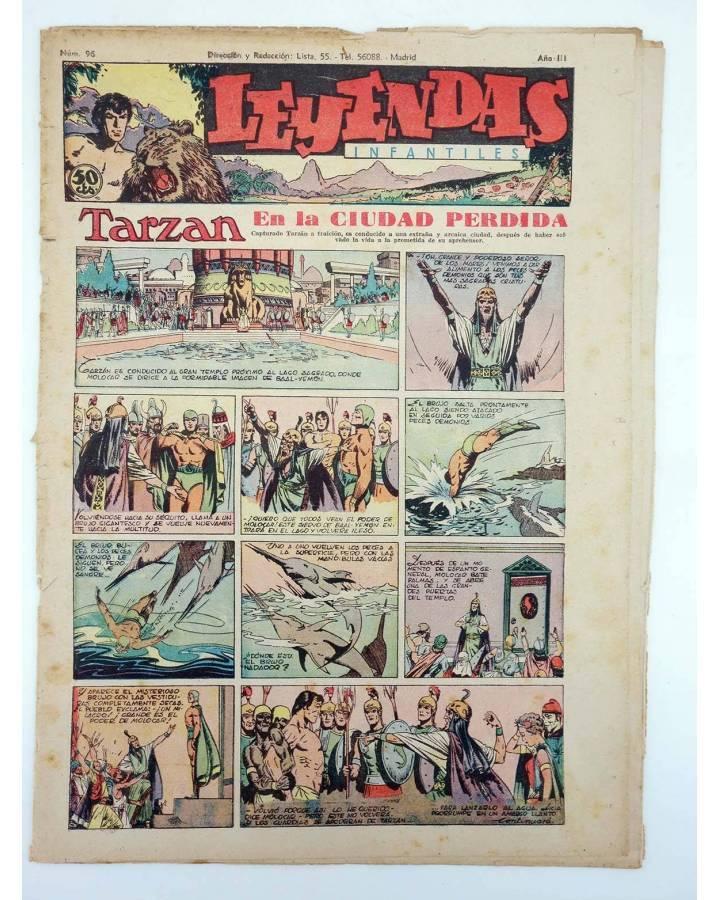 Cubierta de LEYENDAS INFANTILES. AÑO III N.º 96 (Vvaa) Semic Hispano Americana 1944
