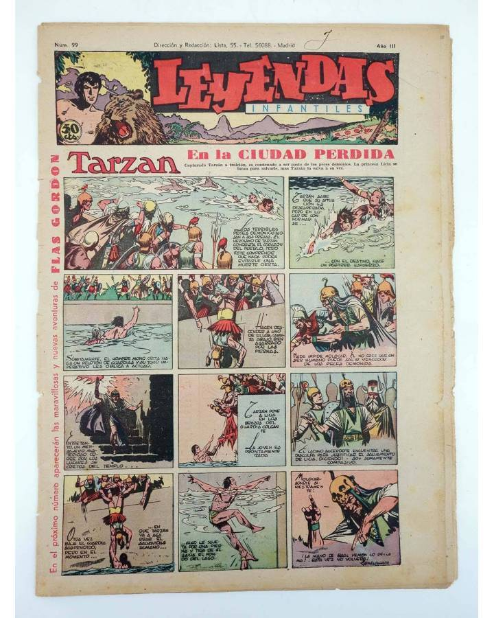 Cubierta de LEYENDAS INFANTILES. AÑO III N.º 99 (Vvaa) Semic Hispano Americana 1944