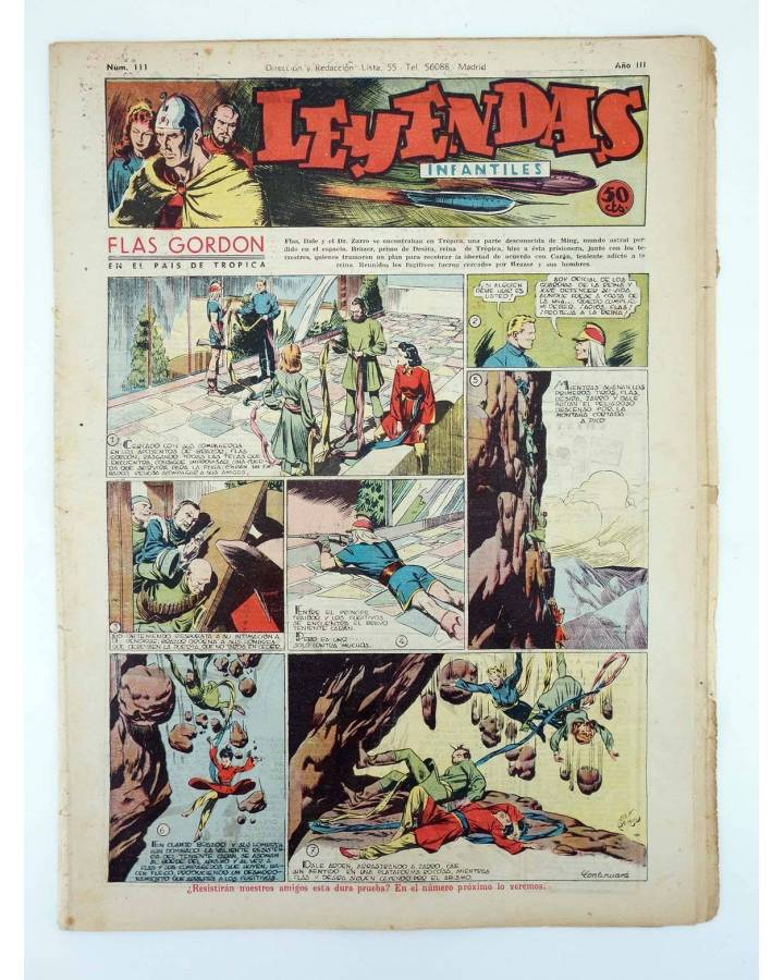 Cubierta de LEYENDAS INFANTILES. AÑO III N.º 111 (Vvaa) Semic Hispano Americana 1944