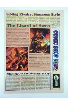 Contracubierta de COMIC SHOP NEWS 405. LISA COMICS (Vvaa) Comic Shop News Inc 1994