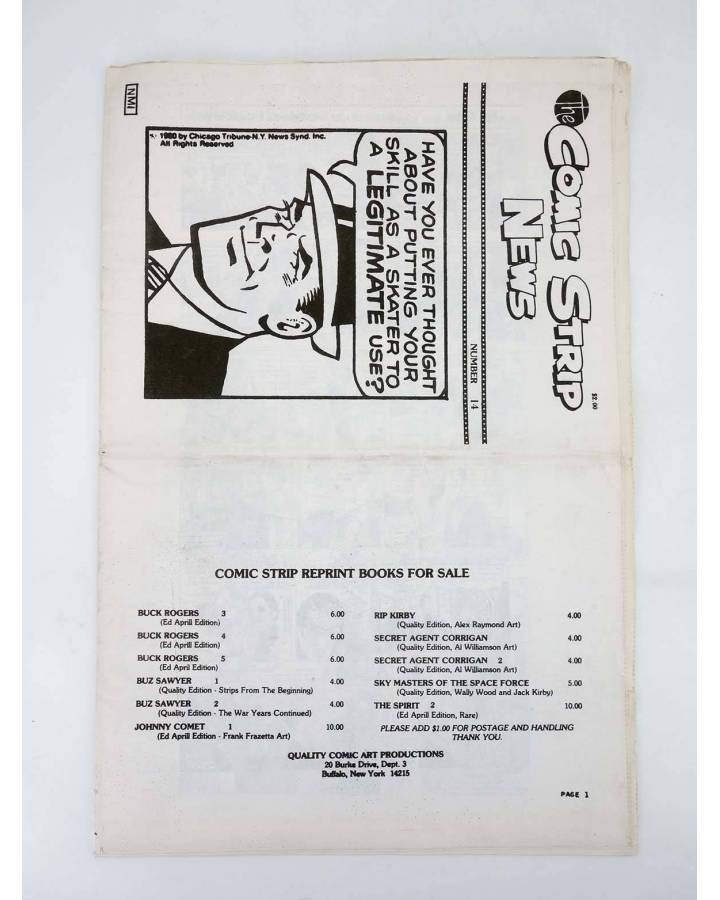 Cubierta de THE COMIC STRIP NEWS 14. DICK TRACY s/f. ORIGINAL USA (No Acreditado) Quality Comic Art s/f