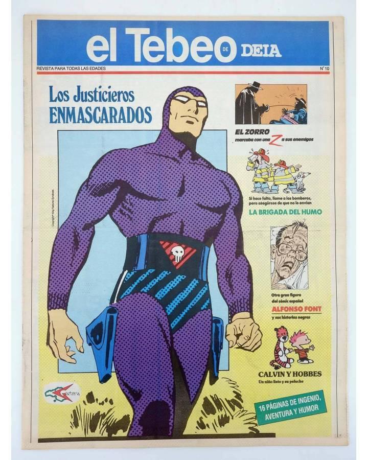 Cubierta de EL TEBEO DE DEIA 10. LOS JUSTICIEROS ENMASCARADOS. SUPLEMENTO COMICS DEIA DIARIO DE EUSKADI (Vvaa) Deia 1990