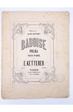 Cubierta de BADOISE. POLKA PARA PIANO (E. Ketterer) Antonio Romero s/f