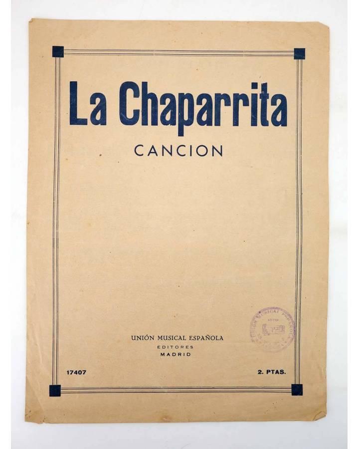 Cubierta de LA CHAPARRITA. CANCÍON (L. Foglietti) Unión Musical Española s/f
