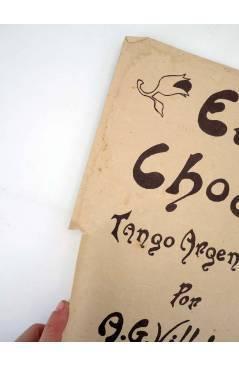 Contracubierta de EL CHOCLO TANGO ARGENTINO (A. G. Villoldo) A. Marquez da Silva s/f