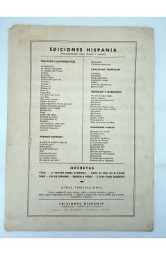 Contracubierta de EL AÑO CUARENTA Y PICO CORRIDO HUMORÍSTICO (Martínez Campos / Andrés Moltó) Hispania s/f