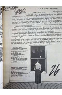 Contracubierta de REVISTA BESAME MUCHO 26. MOVIDA MADRID (Vvaa) Producciones Editoriales 1979