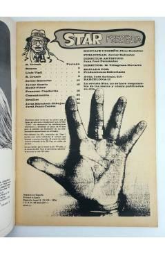 Contracubierta de REVISTA STAR 5. COMIX Y PRENSA MARGINAL (Vvaa) Producciones Editoriales 1974