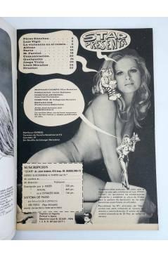 Contracubierta de REVISTA STAR 6. COMIX Y PRENSA MARGINAL (Vvaa) Producciones Editoriales 1974
