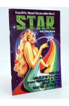 Cubierta de REVISTA STAR 23. COMIX Y PRENSA MARGINAL (Vvaa) Producciones Editoriales 1974