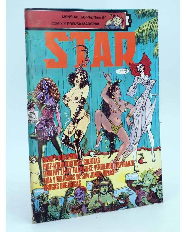 Cubierta de REVISTA STAR 24. COMIX Y PRENSA MARGINAL (Vvaa) Producciones Editoriales 1974