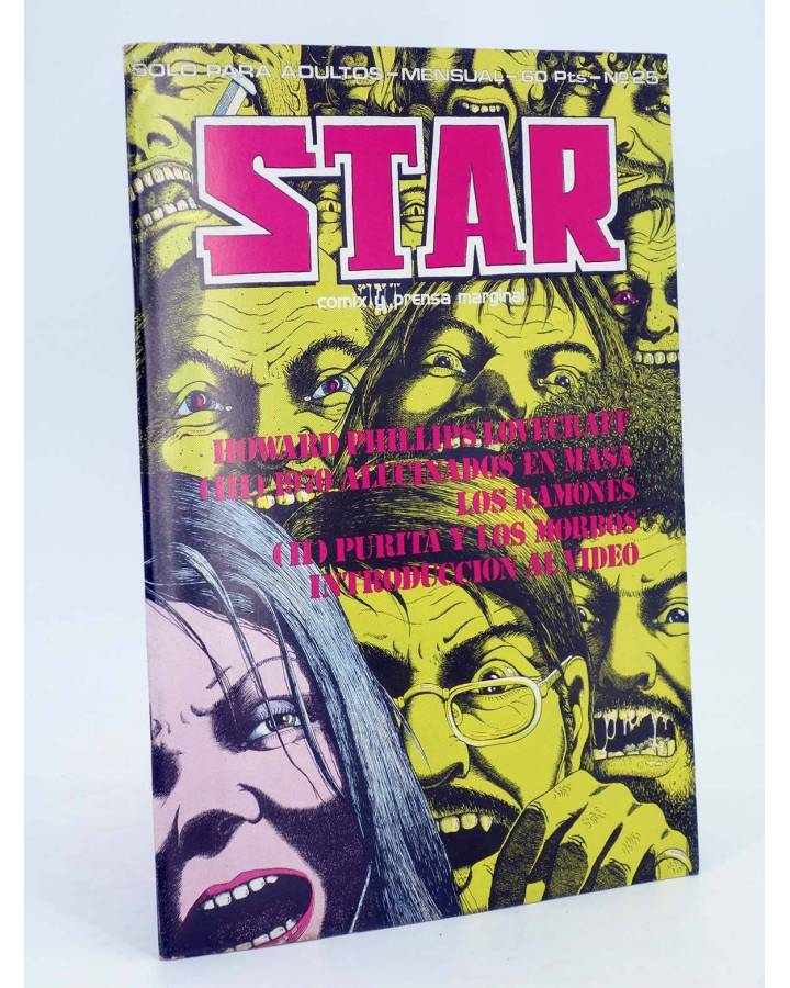 Cubierta de REVISTA STAR 25. COMIX Y PRENSA MARGINAL (Vvaa) Producciones Editoriales 1974