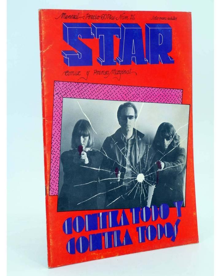 Cubierta de REVISTA STAR 26. COMIX Y PRENSA MARGINAL (Vvaa) Producciones Editoriales 1974