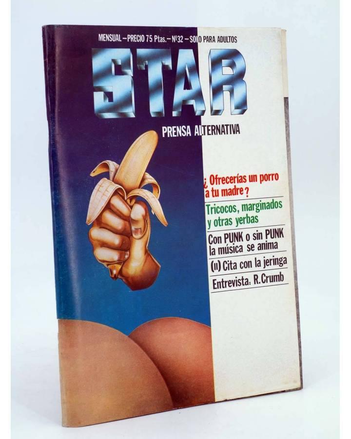 Cubierta de REVISTA STAR 32. COMIX Y PRENSA MARGINAL (Vvaa) Producciones Editoriales 1974