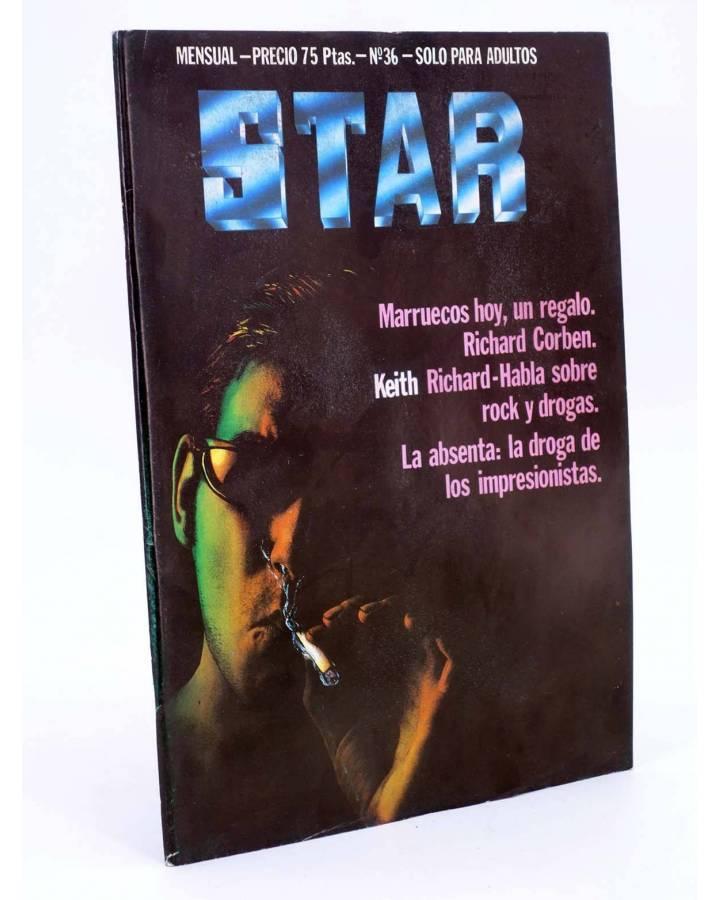 Cubierta de REVISTA STAR 36. COMIX Y PRENSA MARGINAL (Vvaa) Producciones Editoriales 1974
