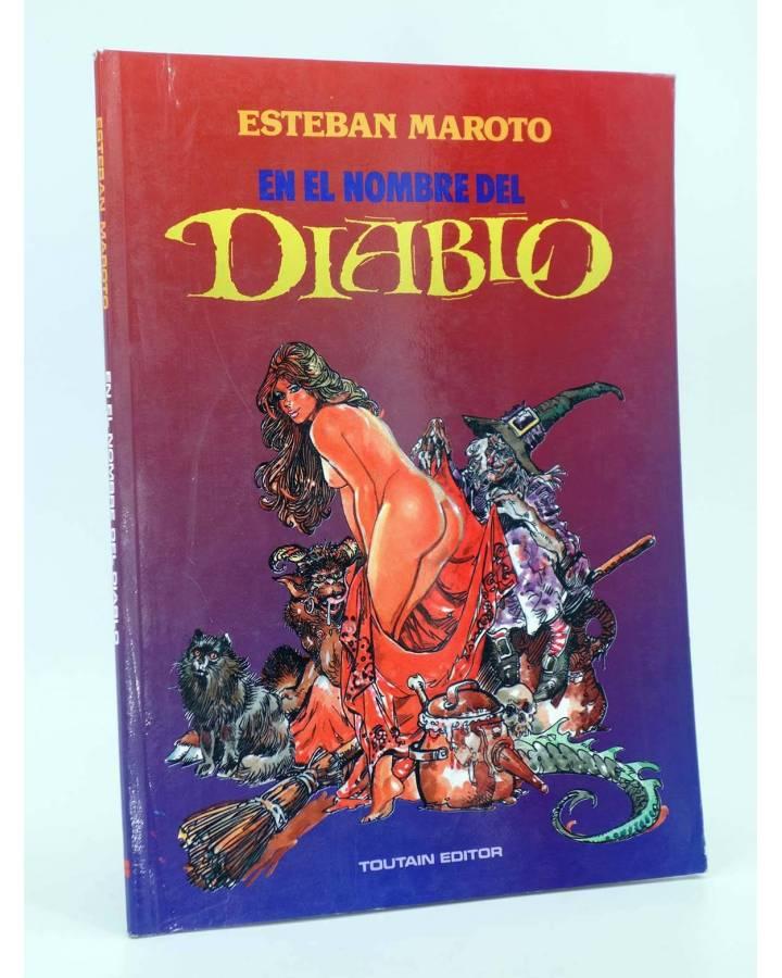 Cubierta de EN EL NOMBRE DEL DIABLO (Esteban Maroto) Toutain editor 1991