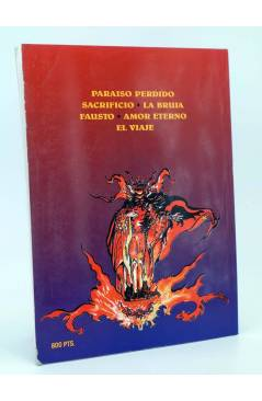 Contracubierta de EN EL NOMBRE DEL DIABLO (Esteban Maroto) Toutain editor 1991