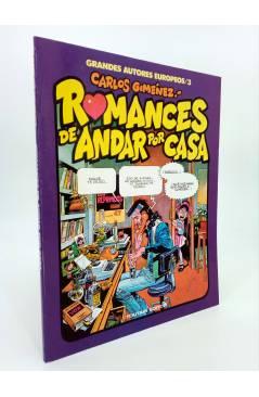 Cubierta de GRANDES AUTORES EUROPEOS 3. ROMACES DE ANDAR POR CASA (Carlos Giménez) Toutain editor 1986