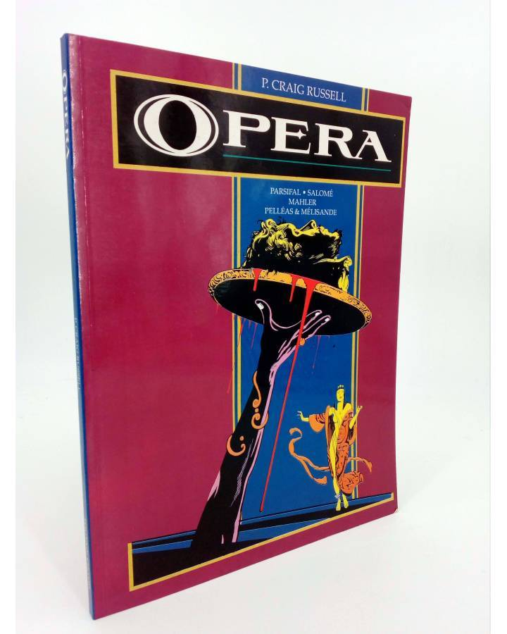 Cubierta de OPERA. PARSIFAL SALOMÉ MAHLER PELLEAS & MÉLISANDE (P. Craig Russell) Toutain editor 1990