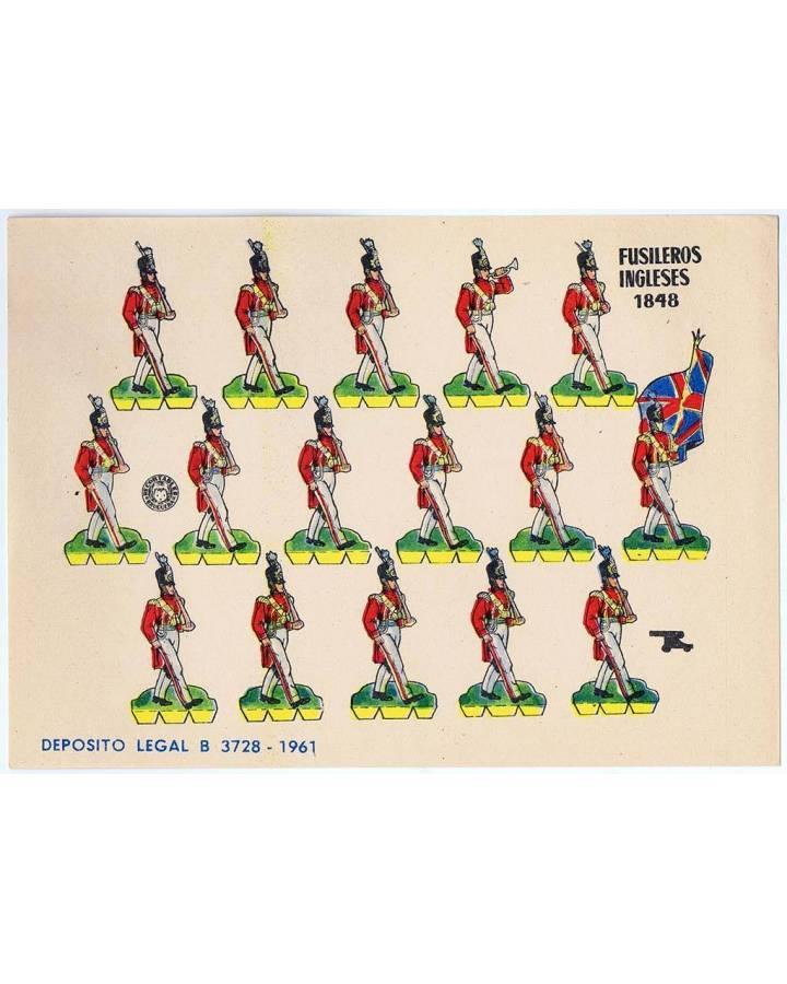 Cubierta de RECORTABLES MILITARES BRUGUERA. SERIE CAÑON. FUSILEROS INGLESES DE 1848 (No Acreditado) Bruguera 1961