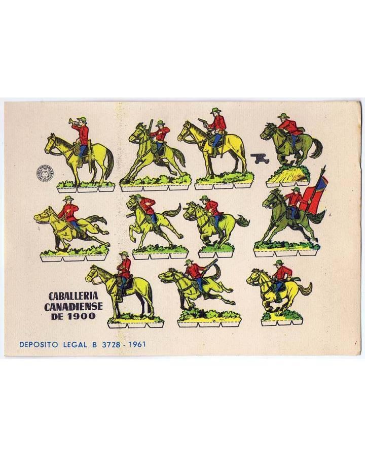 Cubierta de RECORTABLES MILITARES BRUGUERA. SERIE CAÑON. CABALLERIA CANADIENSE DE 1900 (No Acreditado) Bruguera 1961