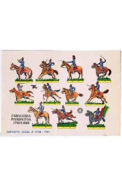 Cubierta de RECORTABLES MILITARES BRUGUERA. SERIE CAÑON. CABALLERIA PIAMONTESA ITALIA 1880 (No Acreditado) Bruguera 1961
