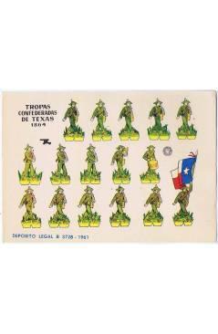 Cubierta de RECORTABLES MILITARES BRUGUERA. SERIE CAÑON. TROPAS CONFEDERADAS DE TEXAS 1864 (No Acreditado) Bruguera 1961