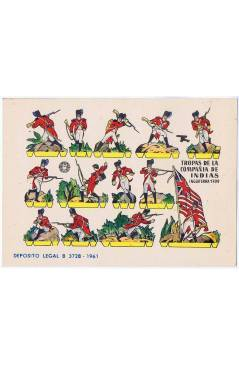 Cubierta de RECORTABLES MILITARES BRUGUERA. SERIE CAÑON. TROPAS DE LA COMPAÑIA DE INDIAS INGLATERRA 1799 OFRT (No Acredi