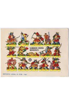 Cubierta de RECORTABLES MILITARES BRUGUERA. SERIE CAÑON. SAMURAIS CONTRA MONGOLES (No Acreditado) Bruguera 1961
