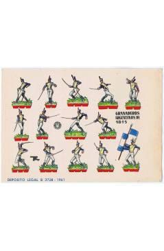 Cubierta de RECORTABLES MILITARES BRUGUERA. SERIE CAÑON. GRANADEROS ARGENTINOS DE 1815 (No Acreditado) Bruguera 1961