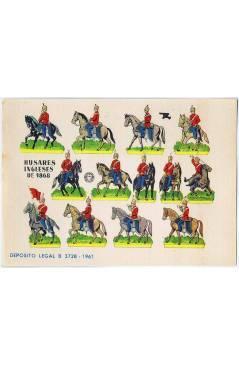 Cubierta de RECORTABLES MILITARES BRUGUERA. SERIE CAÑON. HUSARES INGLESES DE 1868 (No Acreditado) Bruguera 1961
