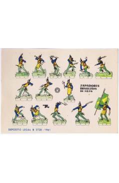 Cubierta de RECORTABLES MILITARES BRUGUERA. SERIE CAÑON. ZAPADORES BRASIEÑOS DE 1876 (No Acreditado) Bruguera 1961