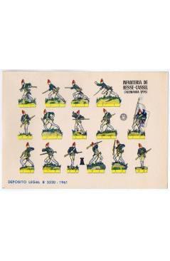 Cubierta de RECORTABLES MILITARES BRUGUERA. SERIE TORRE. INFANTERÍA DE HESSE CASSEL ALEMANIA 1776 (No Acreditado) Brugue