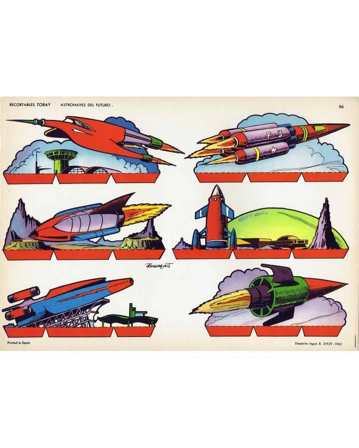 Cubierta de RECORTABLES TORAY GRUPO 5º COHETES Y ASTRONAVES 66. ASTRONAVES DEL FUTURO (Beaumont) Toray 1962