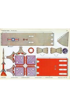 Cubierta de RECORTABLES TORAY GRUPO 5º COHETES Y ASTRONAVES 70. POLARIS USA (Beaumont) Toray 1962