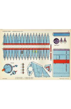 Cubierta de RECORTABLES TORAY GRUPO 5º COHETES Y ASTRONAVES 72. ASTRONAVE 2 PROYECTO USA (Beaumont) Toray 1962