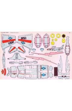 Contracubierta de RECORTABLES TORAY GRUPO 3º AVIONES DE COMBATE 33. A 40. LIBRO 16 LÁMINAS (Beaumont) Toray 1962
