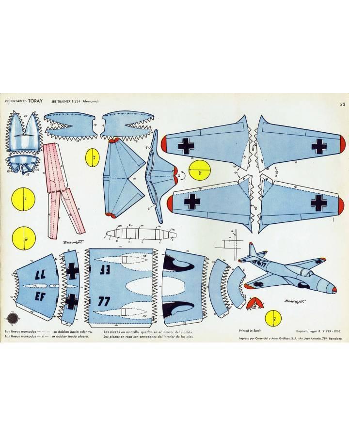 Cubierta de RECORTABLES TORAY GRUPO 3º AVIONES DE COMBATE 33. JET TRAINER T-334 (Beaumont) Toray 1962