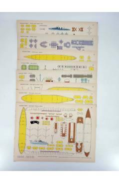 Cubierta de RECORTABLES TORAY GRUPO 15 BARCOS II 57. A 64. COLECCIÓN COMPLETA 8 LÁMS (Beaumont) Toray 1962